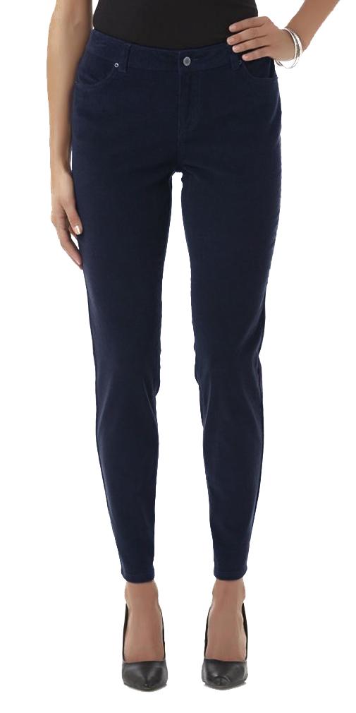 Belle Donne Womens Jeans - Comfortable Fit - Blue-Corduroy - Waist Size 32