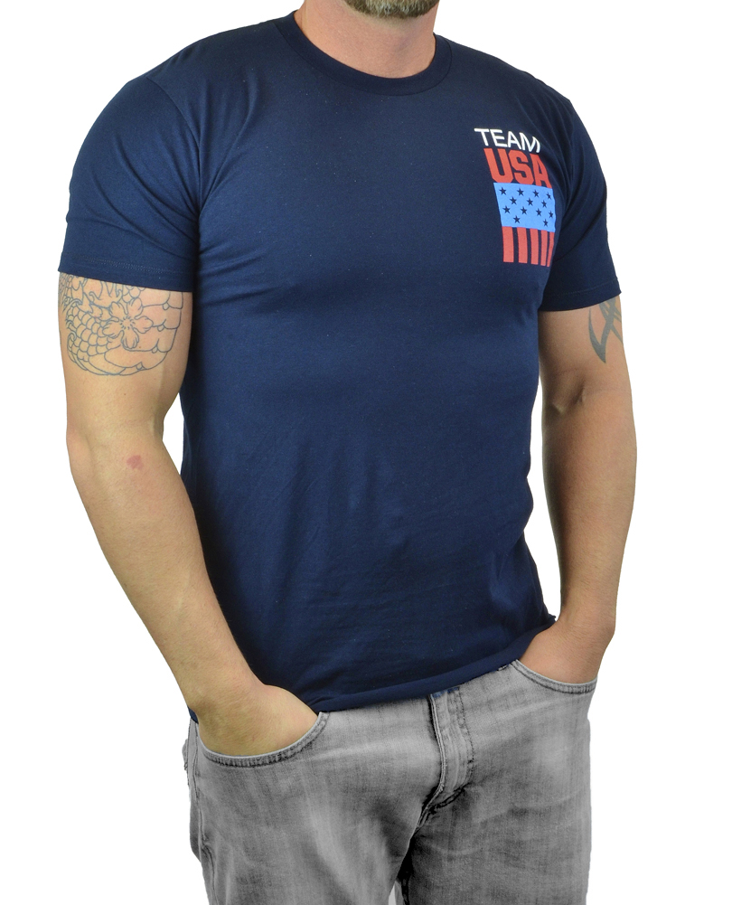 Moda Di Raza Men's Short Sleeve Men Team USA Logo Tshirt Mens and Boys Tee Shirt Size Medium