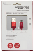 MW-CELL-MICROUSBCABLE-ICM-6166R-RED