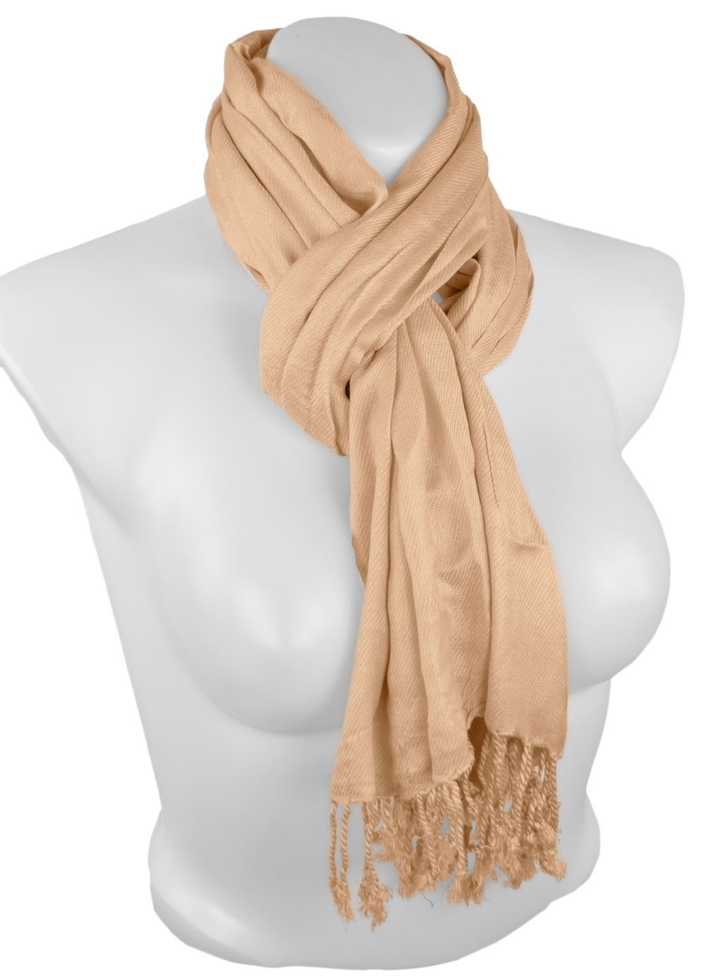 Belle Donne - Women's Pashmina Scarf Solid Color Scarves - Orange