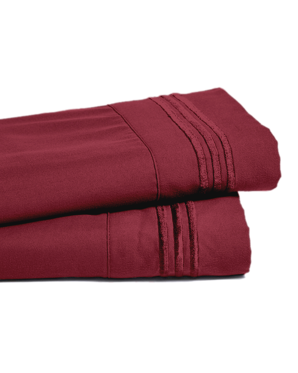 Deep Pocket Bamboo Bed Sheet - Luxury 2200 Embroidered Wrinkle, Fade and Stain Resistant Sheets - Burgundy Full Size