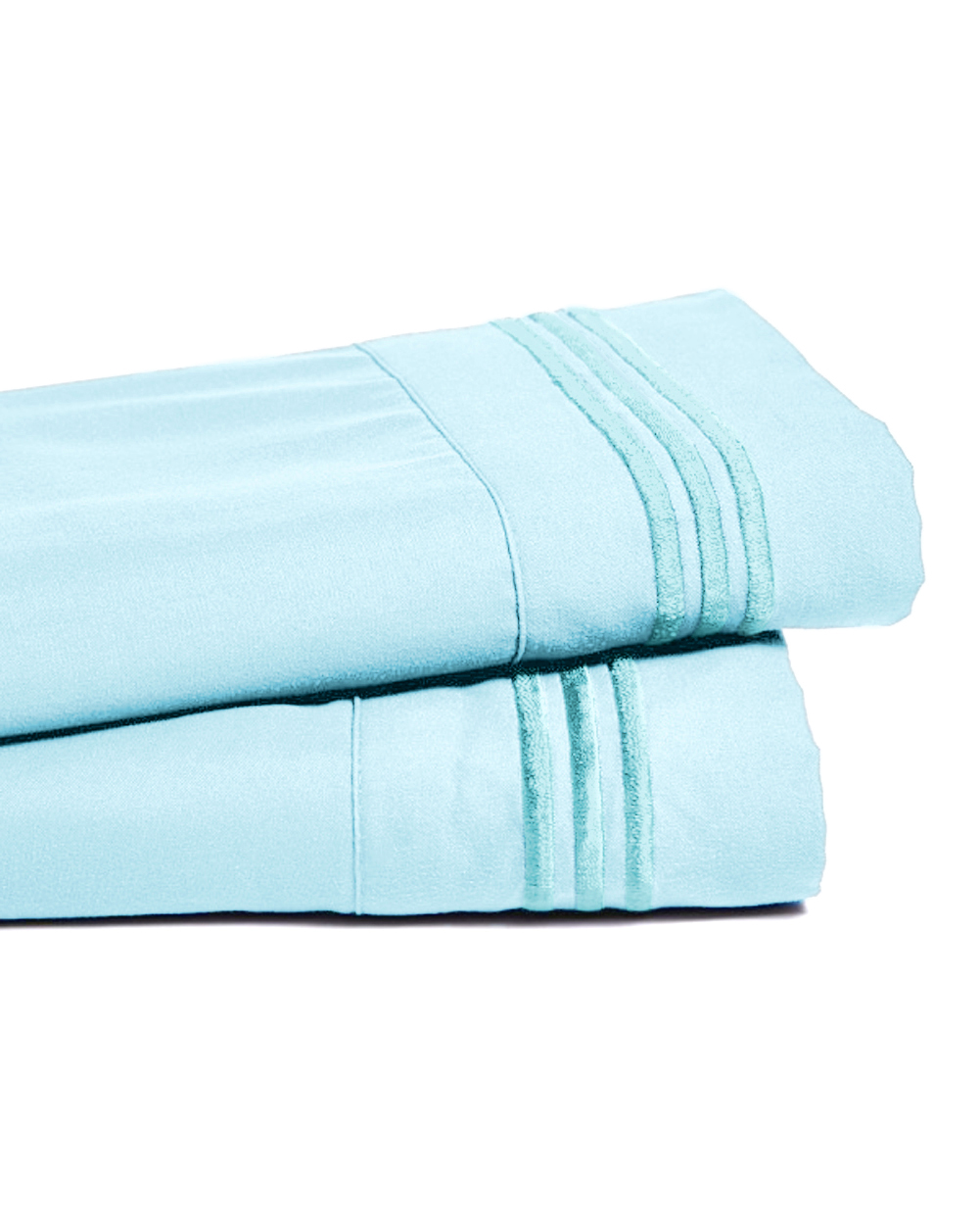 Deep Pocket Bamboo Bed Sheet - Luxury 2200 Embroidered Wrinkle, Fade and Stain Resistant Sheets - Aqua Sky King Size
