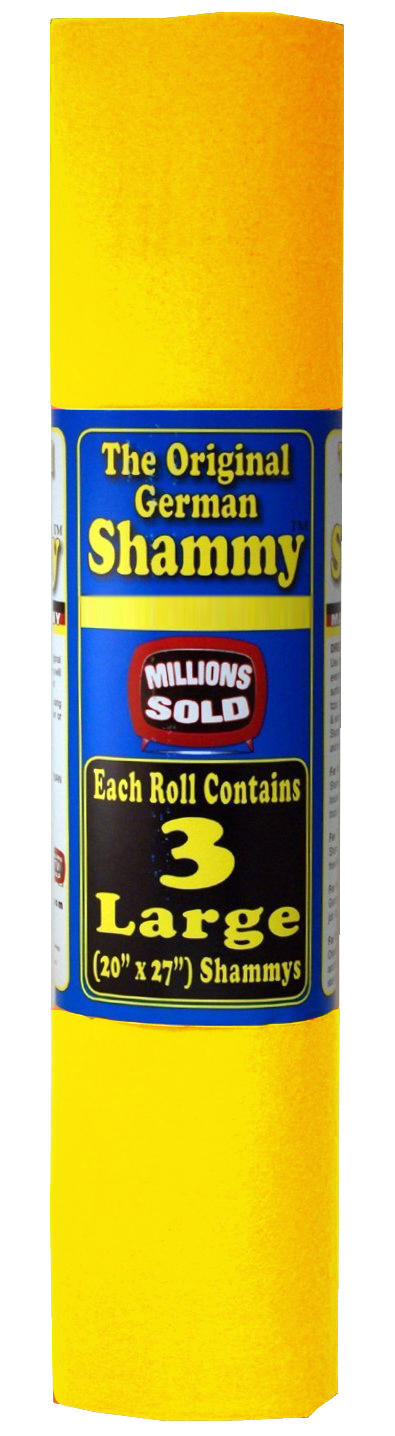 The Original German Shammy Super Absorbent Towel Chamois 20x27 inch, Yellow