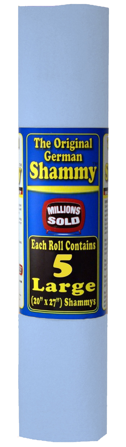 The Original German Shammy Super Absorbent Towel Chamois 20x27 inch, Blue