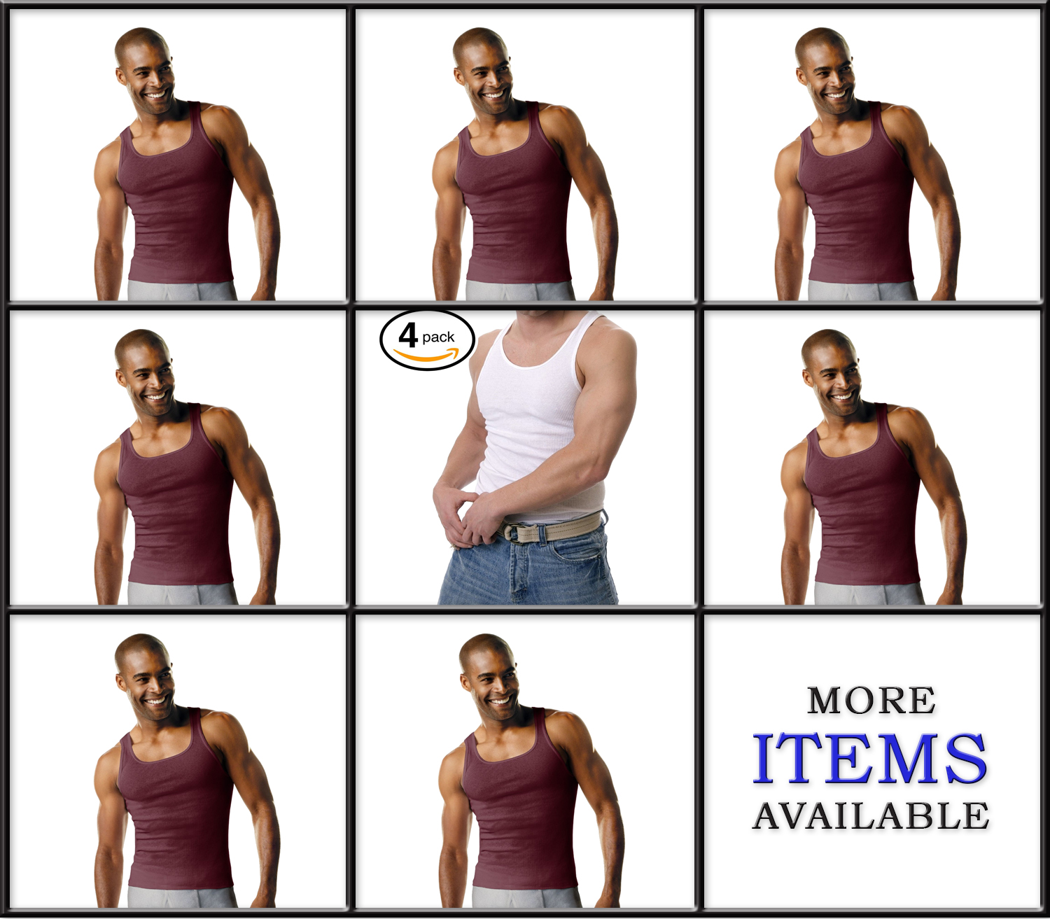 Hanes Men's Tank TAGLESS Fresh IQ Comfort Soft Ribbed A-Shirt 100% Cotton 4 Pack