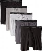 HANES-5BRIEF-Black-Grey-XL