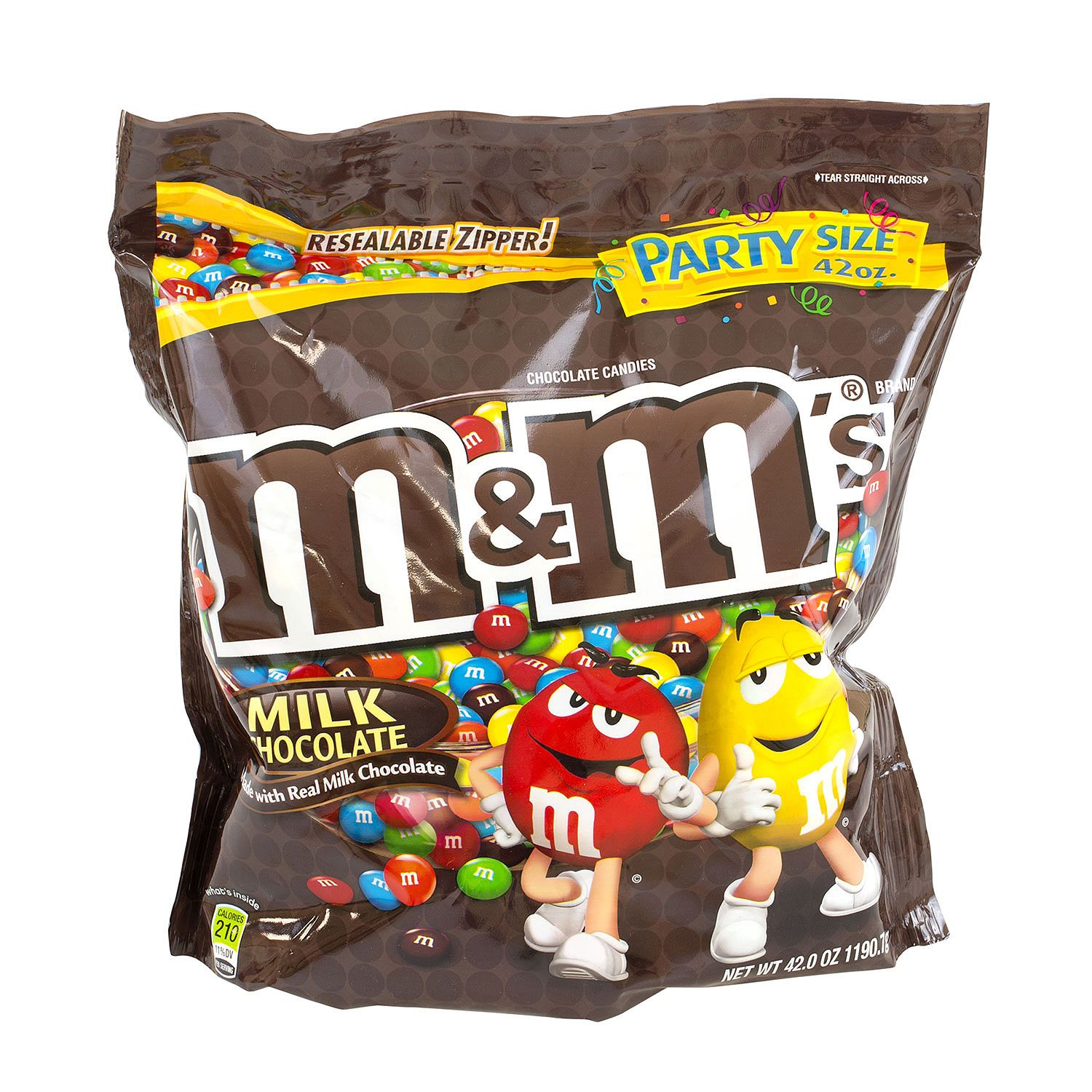 M&M's Plain Chocolate Candies - 42 oz. bag