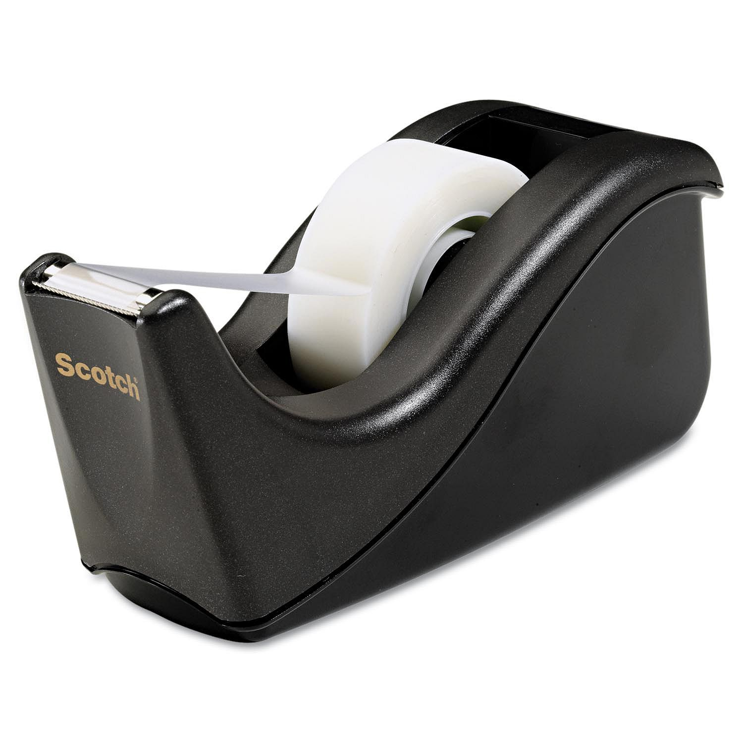 Scotch Value Desktop Tape Dispenser, 1inch Core, Two-Tone Black