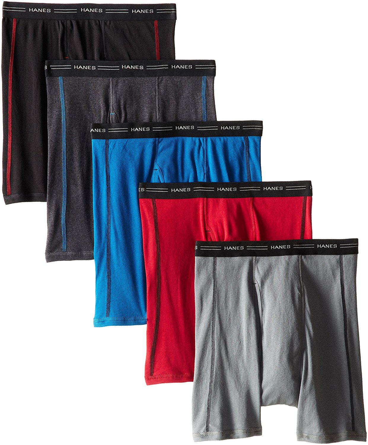 byHanes Hanes Men's Sports Inspired Boxer Brief 5-Pack (Assorted Color, XX-Large)