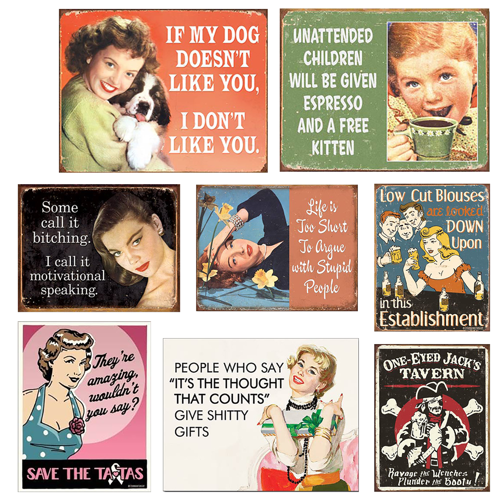 Shop72 - Tin Sign Humorous Sarcasm Funny Vintage Adult Tin Signs For Home Garage Dorm