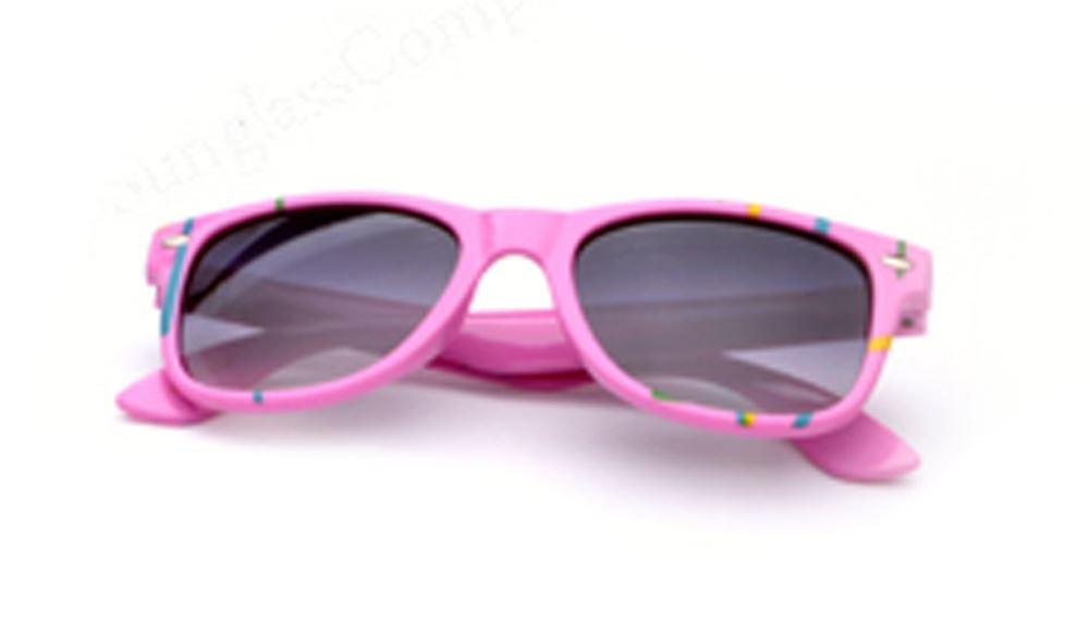Kid's Paint Splatter Wayfarer Sunglasses in Pink