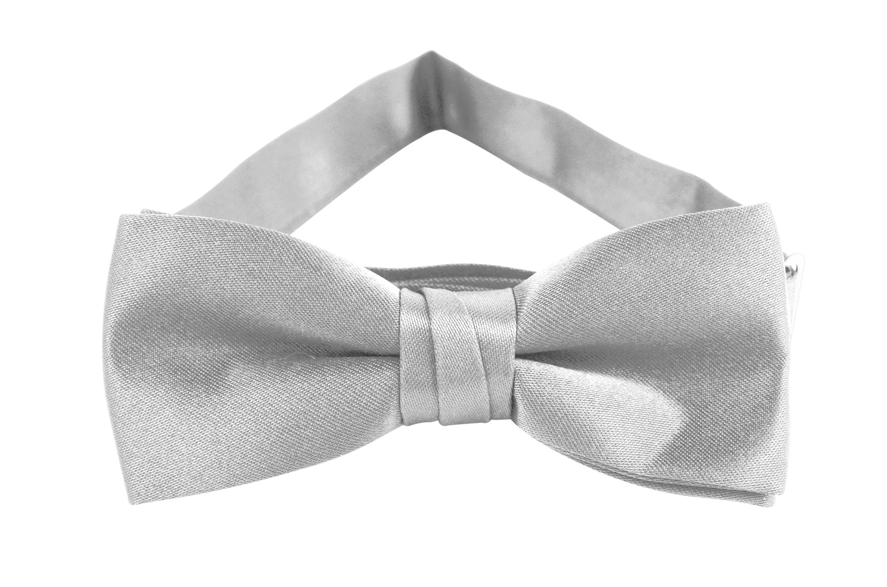 Solid Color Boys Bowtie - Silver