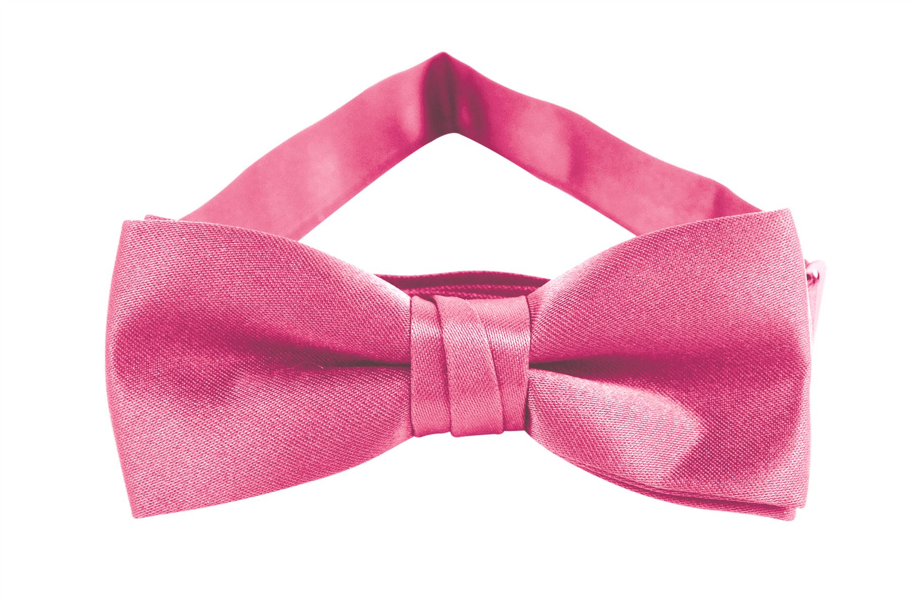 Solid Color Boys Bowtie - Carnation Pink