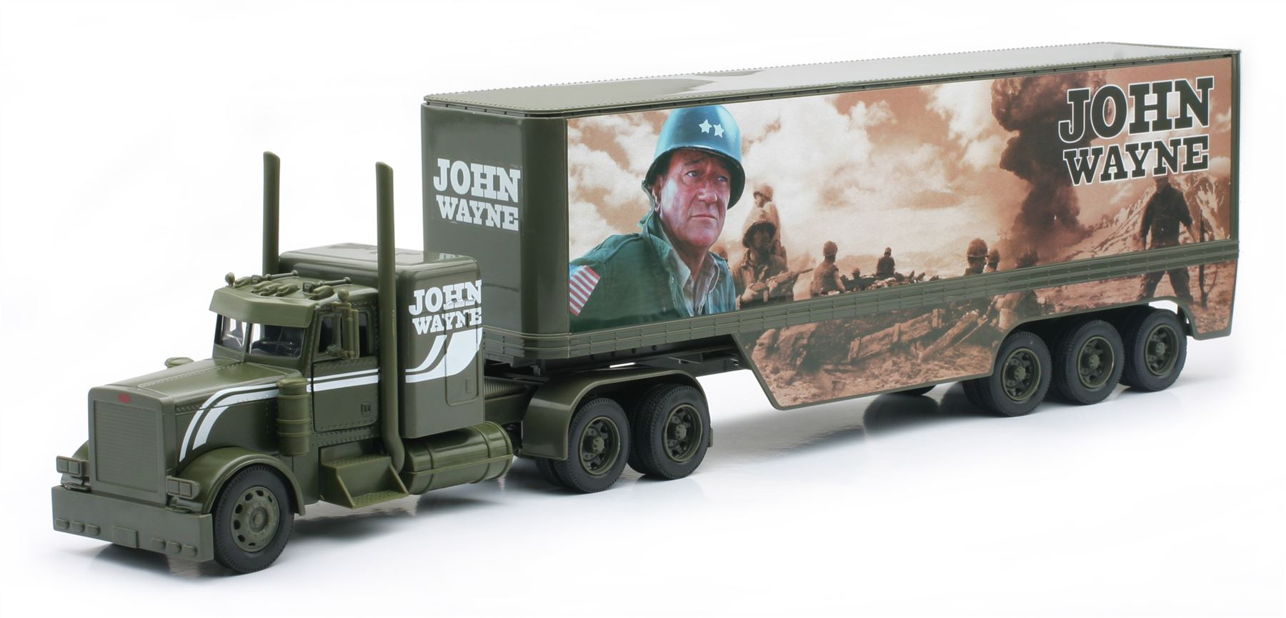New Ray SS-10453A John Wayne Truck Military Long Hauler Toy Truck44; Pack of 6