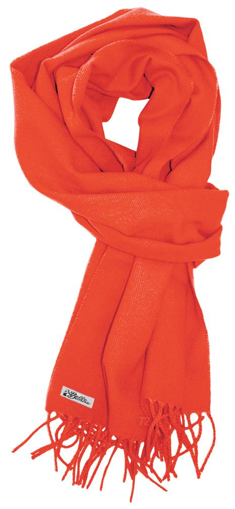 LibbySue--Solid Color Cashmere Feel Winter Scarf (Bright Peach)
