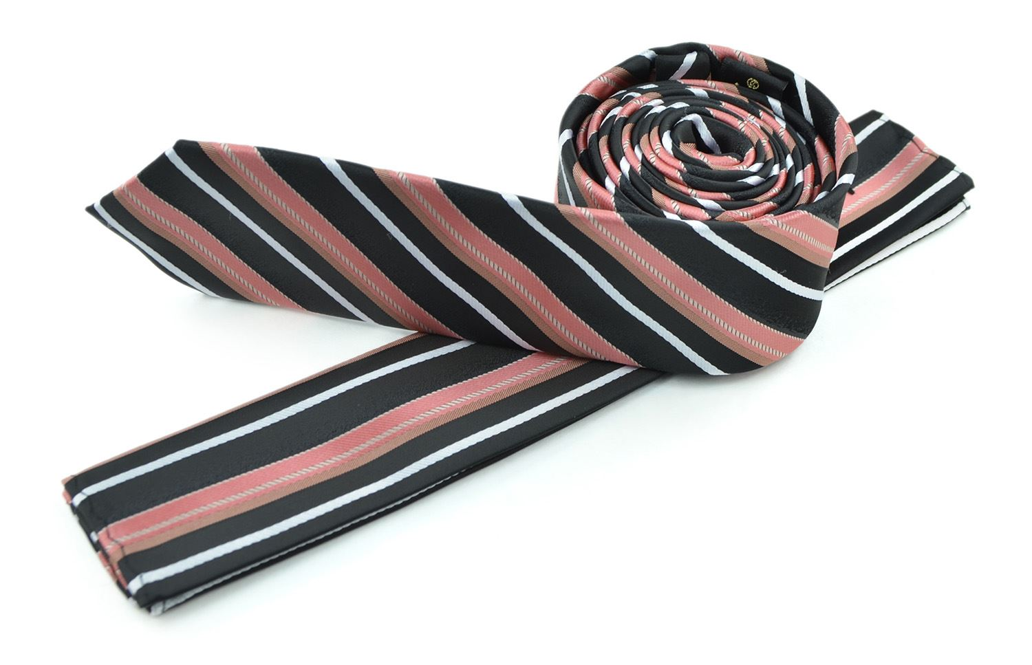 Moda Di Raza - Men's Skinny Necktie 2 Slim Tie Casual Business Formal - Red