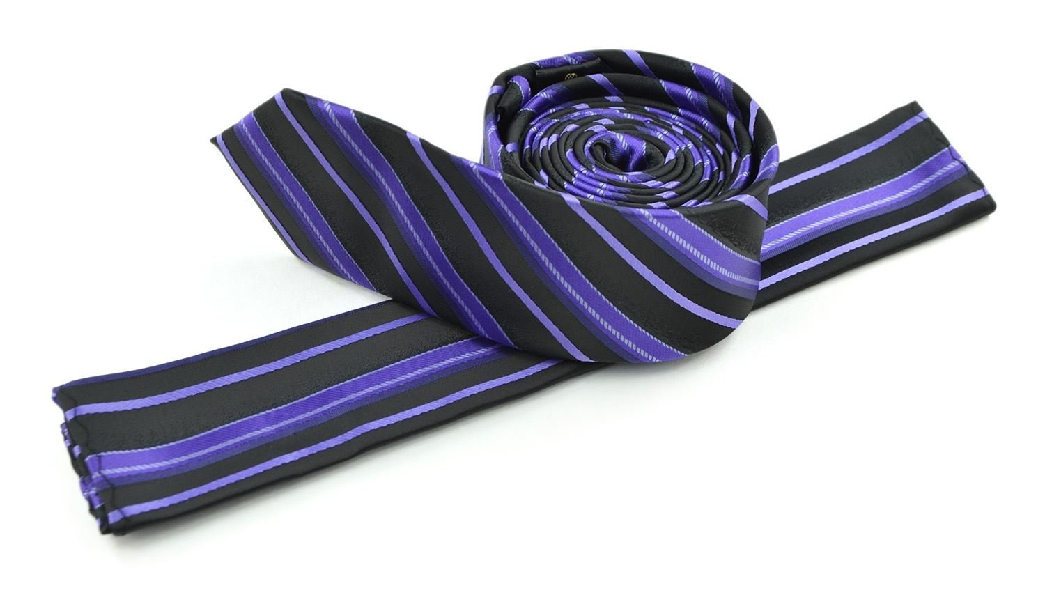 Moda Di Raza Men's Slanted Shadow Stripe Ties Modern Imported Fashion Neckties-Berry