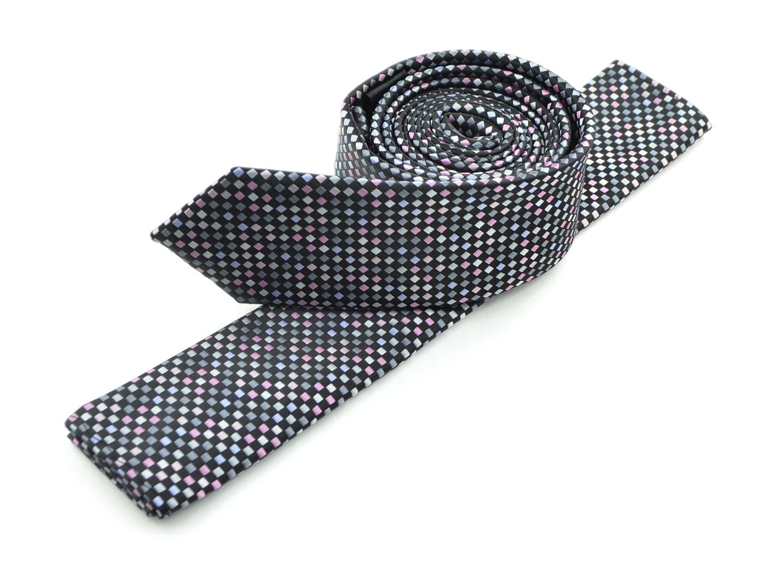 Moda Di Raza Mens Led Pattern Dotted Skinny Ties Modern Imported Fashion Neckties-Pink