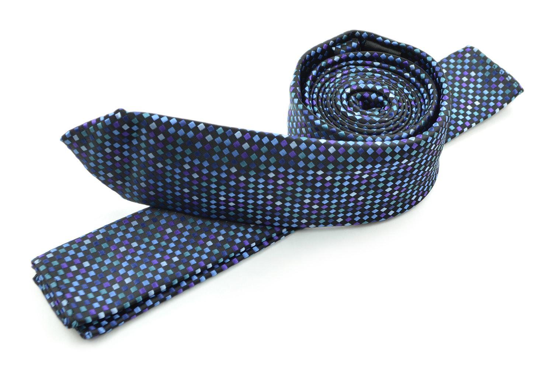 Moda Di Raza Mens Led Pattern Dotted Skinny Ties Modern Imported Fashion Neckties-Lavander