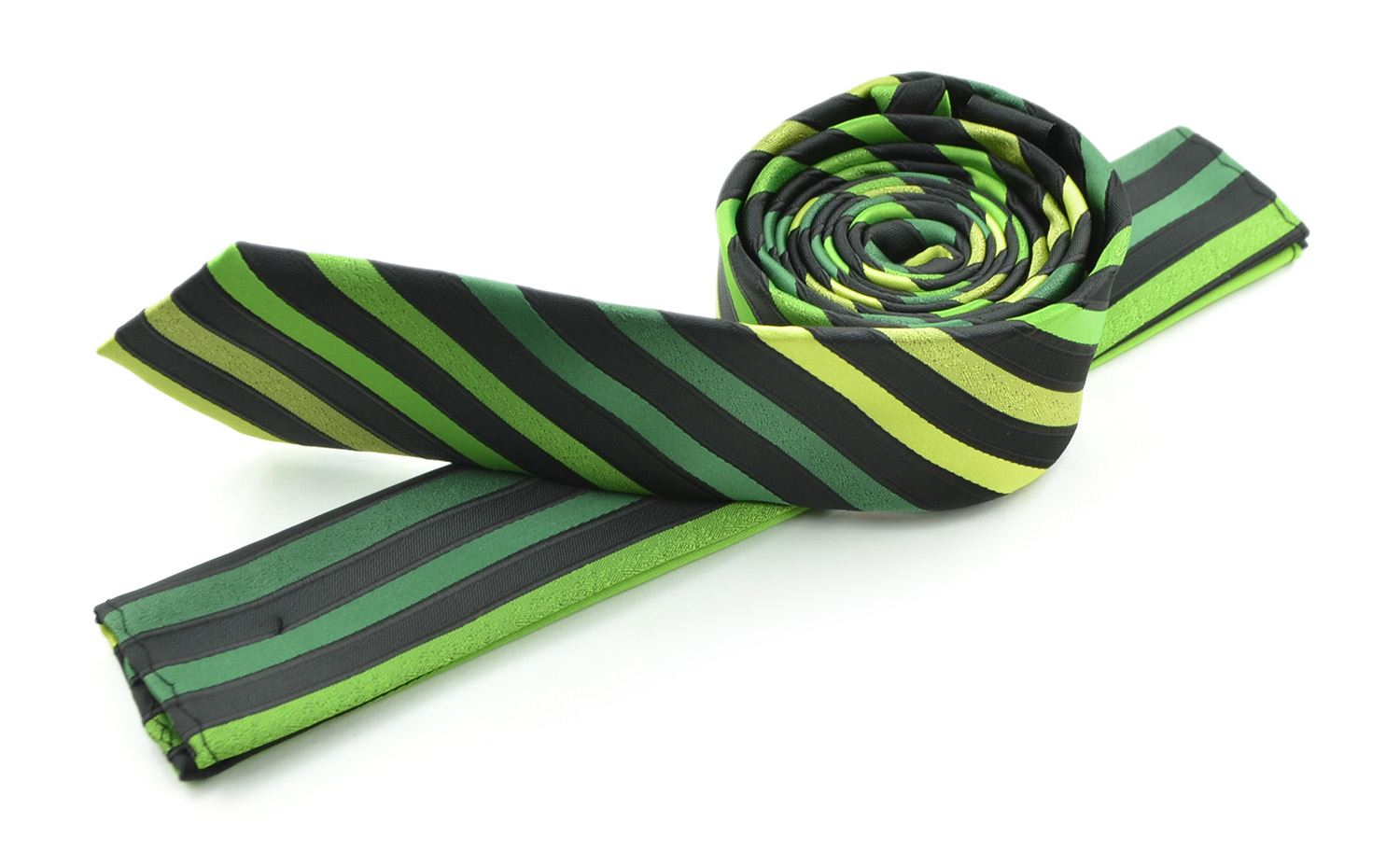 Moda Di Raza Men's Slanted Subtle Striped Ties Trendy Imported Fashion Necktie-Green