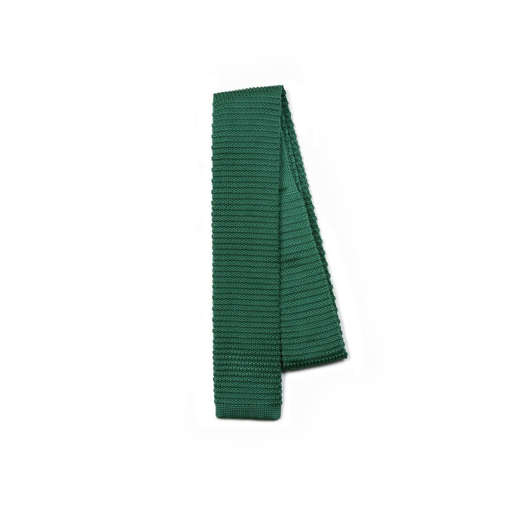 Jacob Alexander Solid Color Slim Knit Tie Square End - Kelly Green