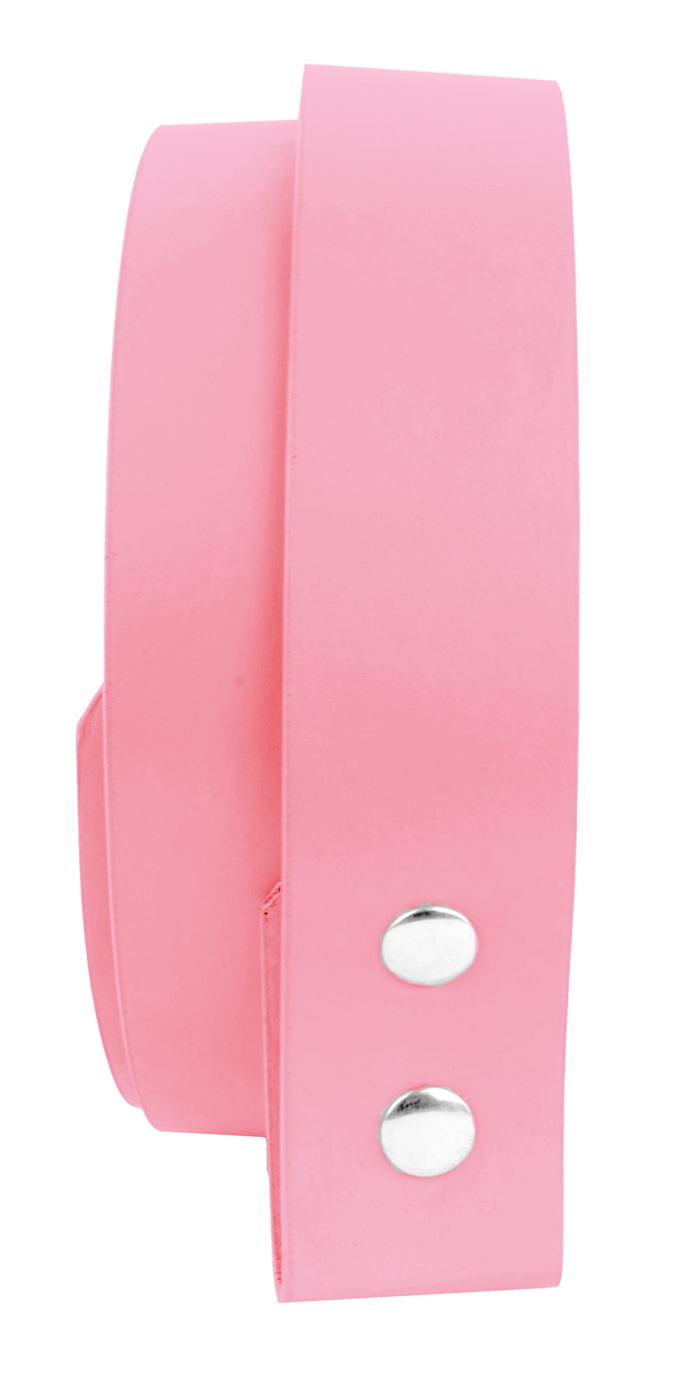 Belle Donne-Women Belt Straps|Belt Without Buckle|Man Made Leather-Pink/XLarge