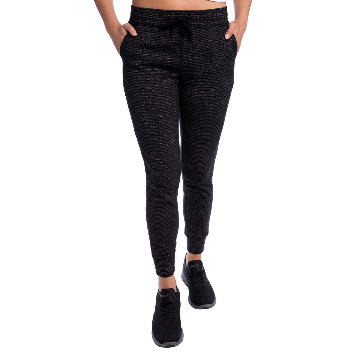 Champion Women's French Terry Pocket Pant, Black/Small