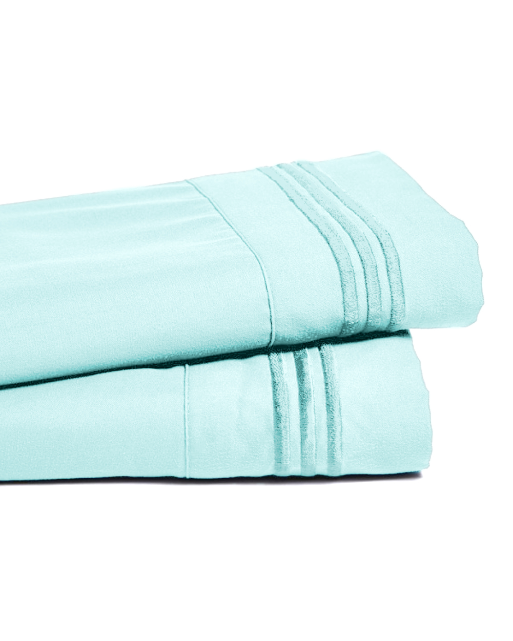 Deep Pocket Bamboo Bed Sheet - Luxury 2200 Embroidered Wrinkle, Fade and Stain Resistant Sheets - Aqua Sky Full Size
