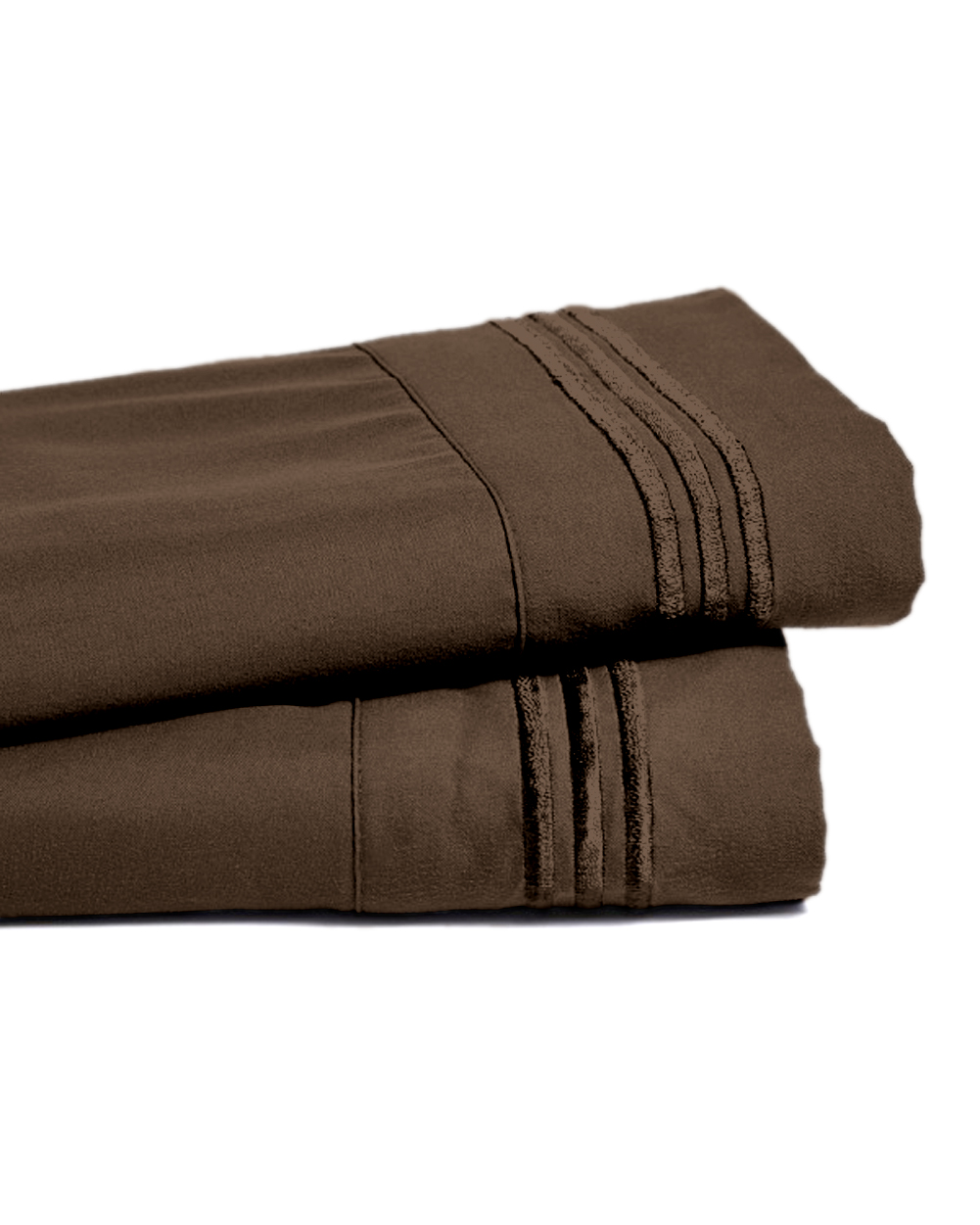 Deep Pocket Bamboo Bed Sheet - Luxury 2200 Embroidered Wrinkle, Fade and Stain Resistant Sheets - Chocolate Full Size