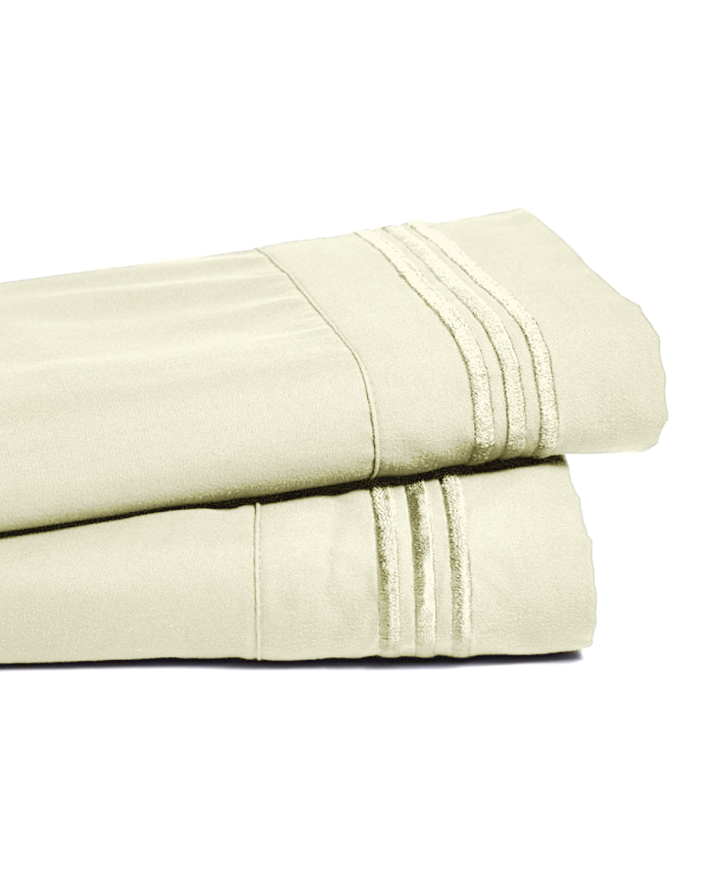 Deep Pocket Bamboo Bed Sheet - Luxury 2200 Embroidered Wrinkle, Fade and Stain Resistant Sheets - Cream Full Size