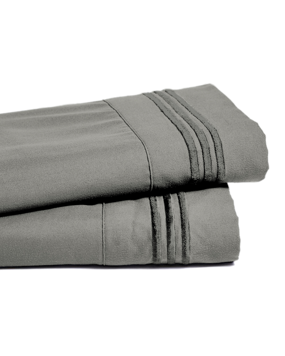 Deep Pocket Bamboo Bed Sheet - Luxury 2200 Embroidered Wrinkle, Fade and Stain Resistant Sheets - Gray Full Size