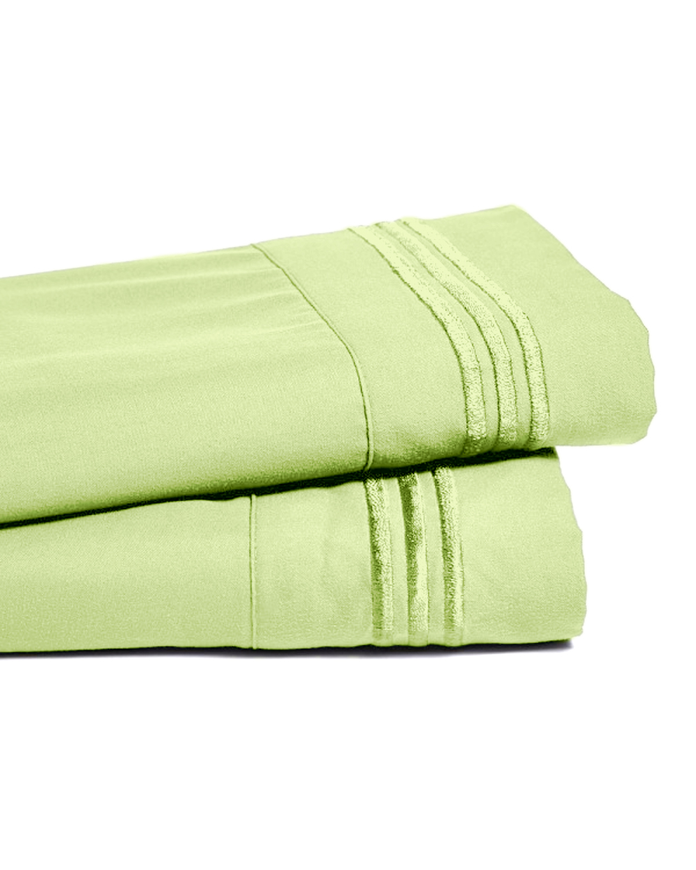 Deep Pocket Bamboo Bed Sheet - Luxury 2200 Embroidered Wrinkle, Fade and Stain Resistant Sheets - Mint Green King Size