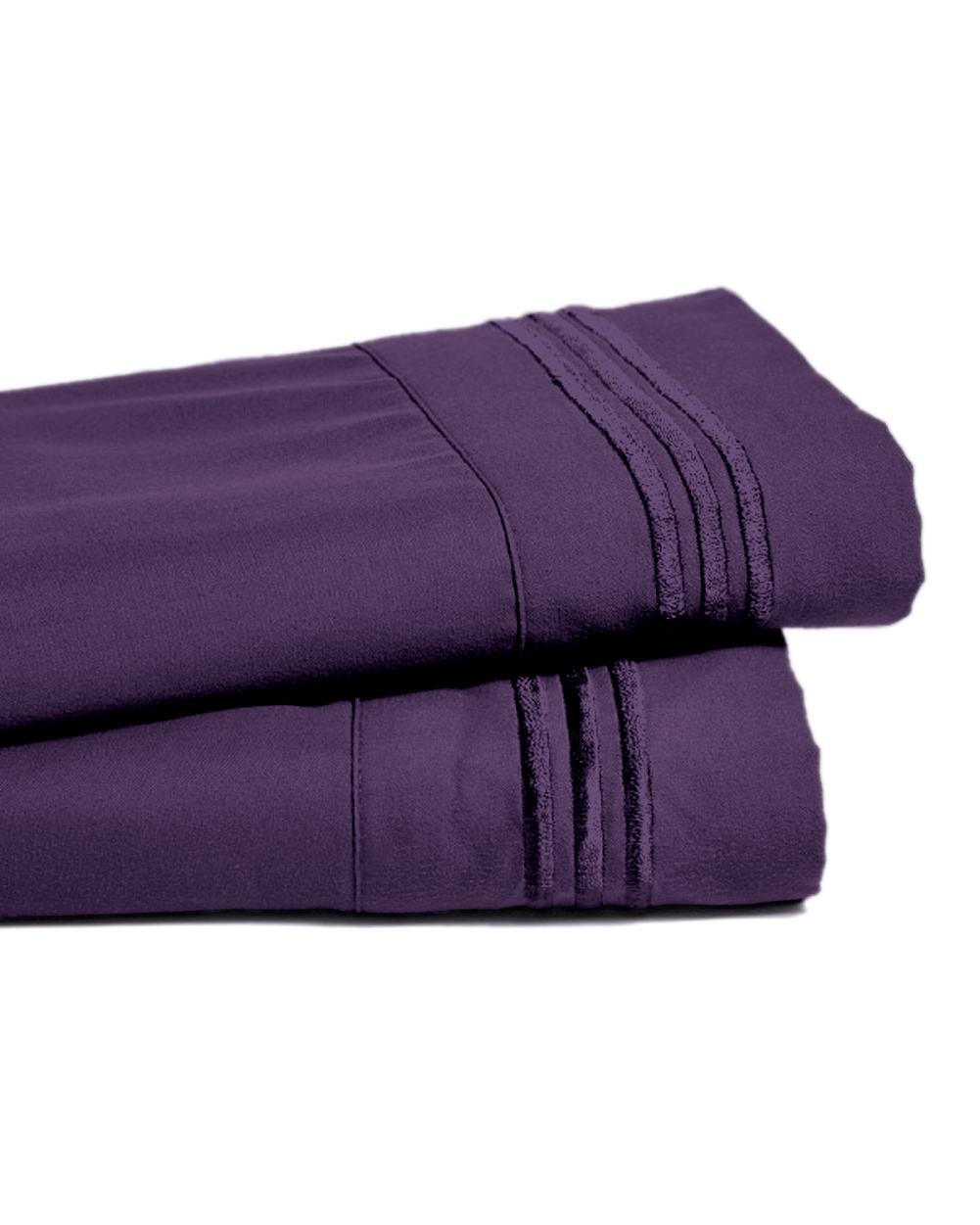 Deep Pocket Bamboo Bed Sheet - Luxury 2200 Embroidered Wrinkle, Fade and Stain Resistant Sheets - Purple Full Size