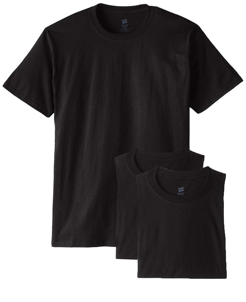 Hanes Men's 3-Pack Crew Undershirt Tagless Crew Neck T-Shirt