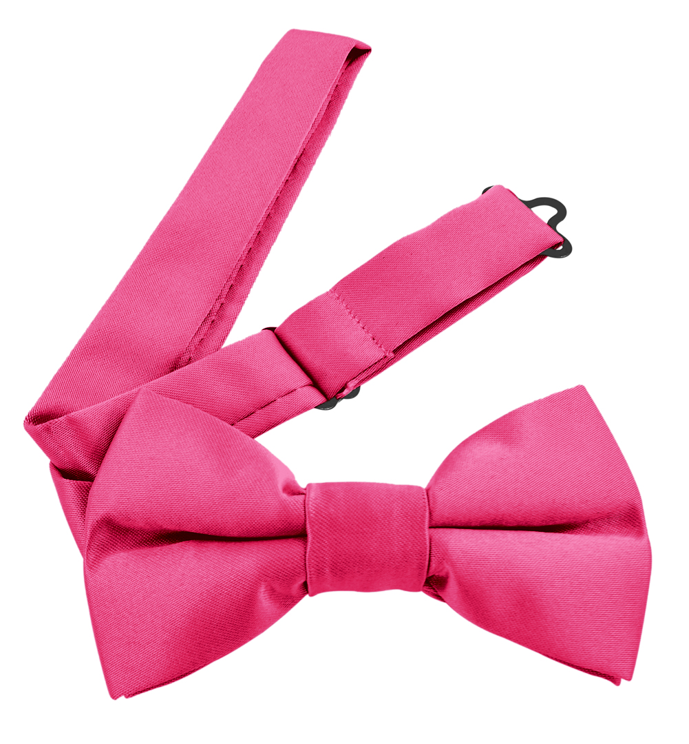 Moda Di Raza Men's Pre Tied Classic 2.5 Inch Bowties with Adjustable Strap - Hot Pink