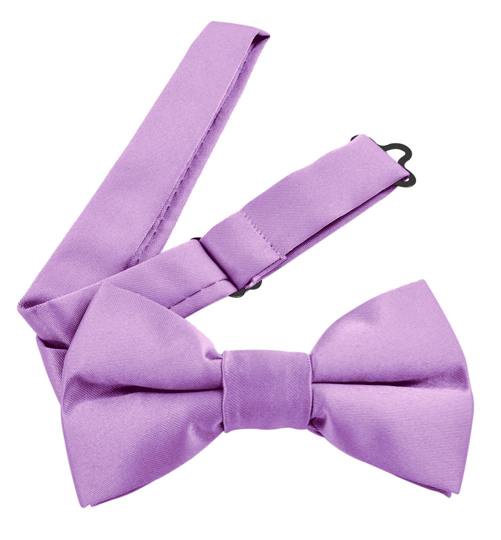 Moda Di Raza Men's Pre Tied Classic 2.5 Inch Bowties with Adjustable Strap - Lavender