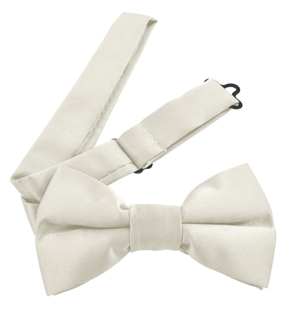 Moda Di Raza Men's Pre Tied Classic 2.5 Inch Bowties with Adjustable Strap - Off White