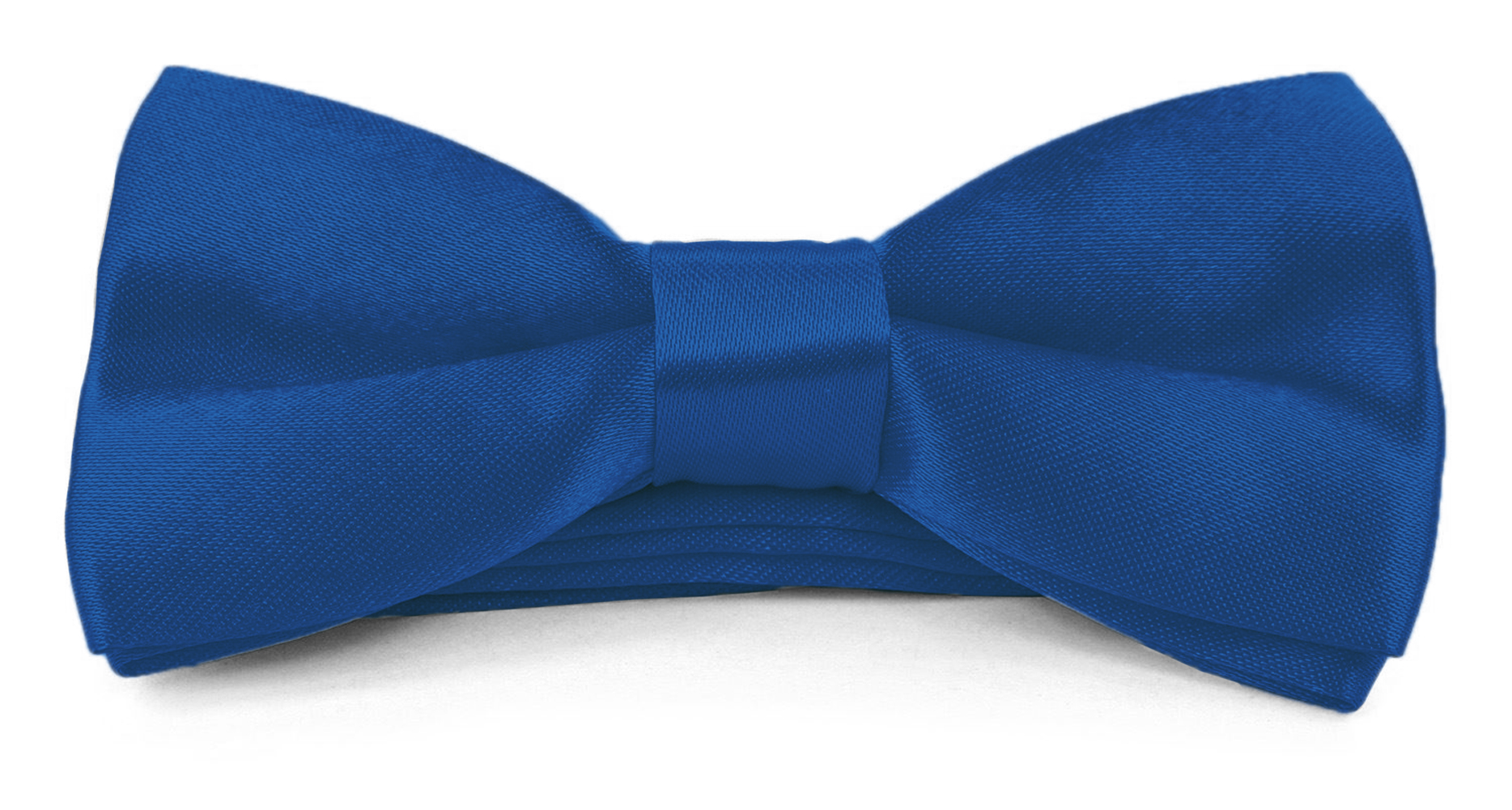 Boys Kids Adjustable Pre Tied 4x2 Satin Silk Bow Ties - Cobalt Blue