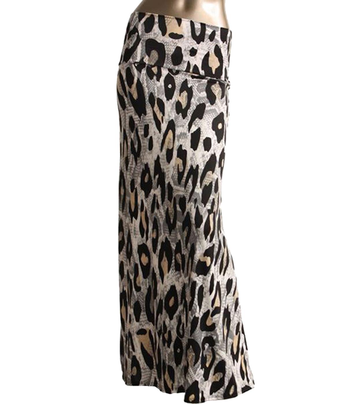 BelleDonne - Women's Maxi Skirt Rayon Stretchy Long Skirt High Waist Skirt - Cream/Small
