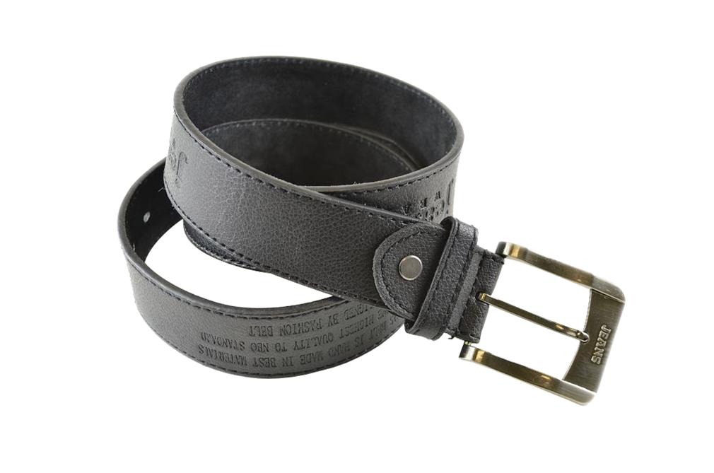 Moda Di Raza-Men Leather Belt - Jean Dress Belt With Buckle Desginer Inspired - Black-V/Large