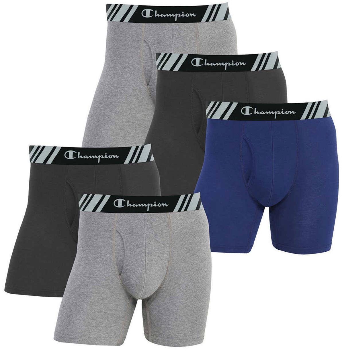 Champion Men's 5 Pack Smart Temp Boxer Brief - New 5 Value Pack - Multi Color - Medium
