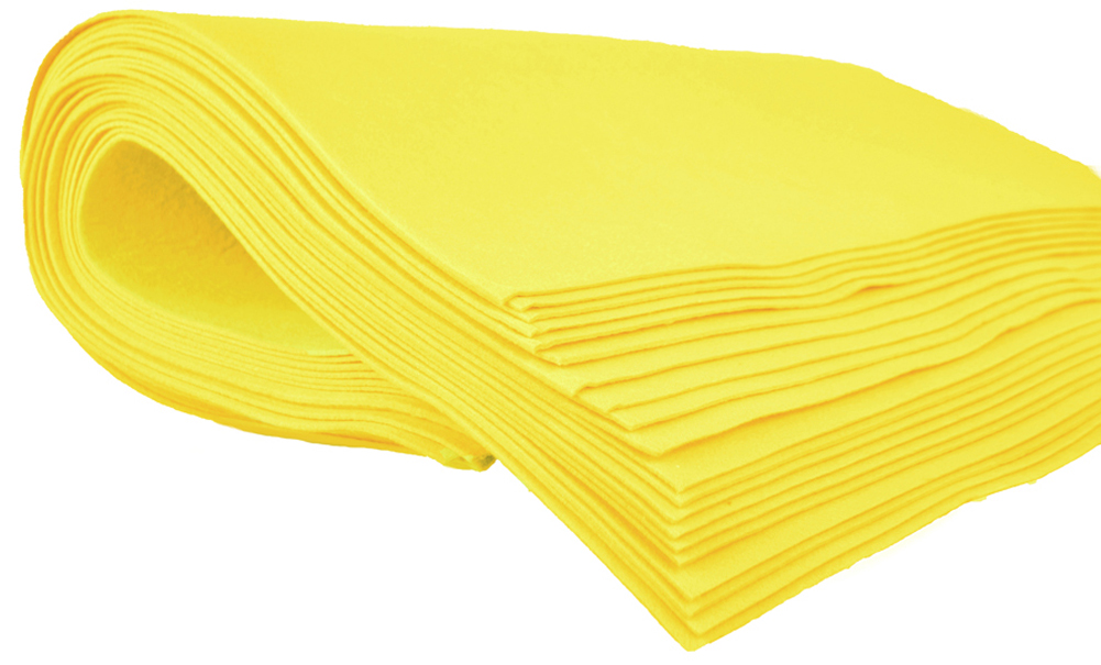 Shammy Cloth Chamois Absorbent Cleaning Towel 20 x 27 for Home Car Truck RV - Yellow