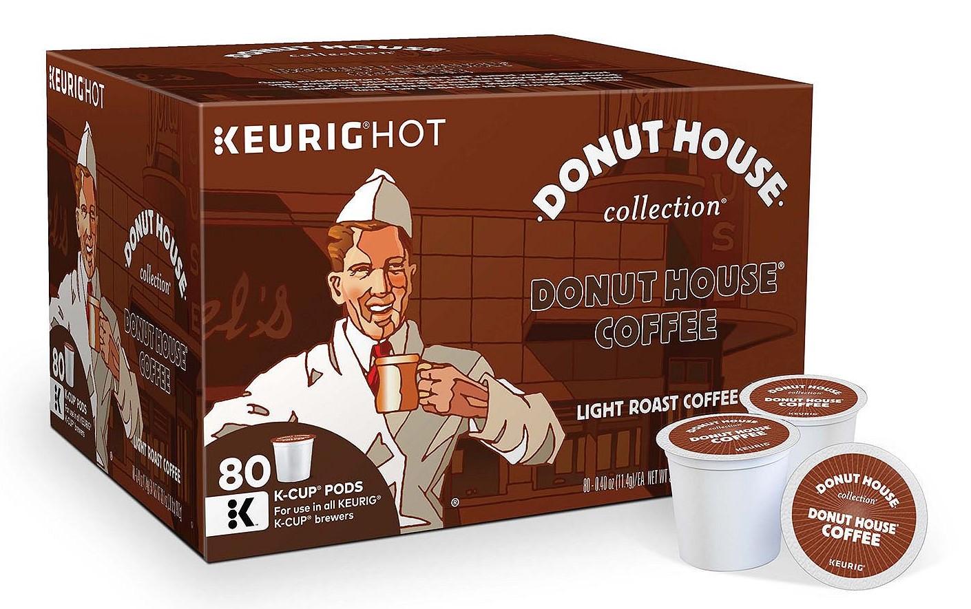 Donut House Light Roast Coffee (80 K-Cups)