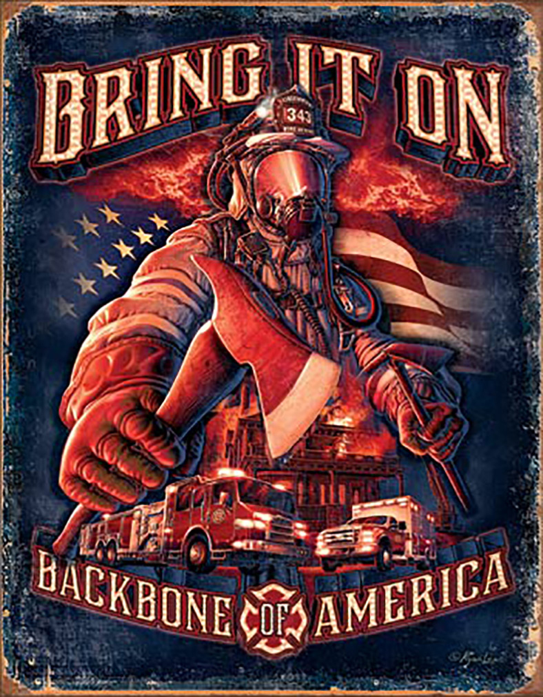Shop72 - American Theme Tin Sign Decorative Sign and Vintage Retro TinSigns - Bring It On - with Sticky Stripes No Damage to Walls