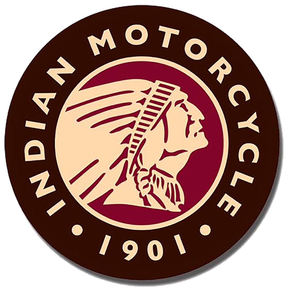 Shop72 - Indian Logo Round - Indian Motorcycle 1901 Tin Sign Bikes Tin Sign Retro Vintage Distressed - with Sticky Stripes No Damage to Walls