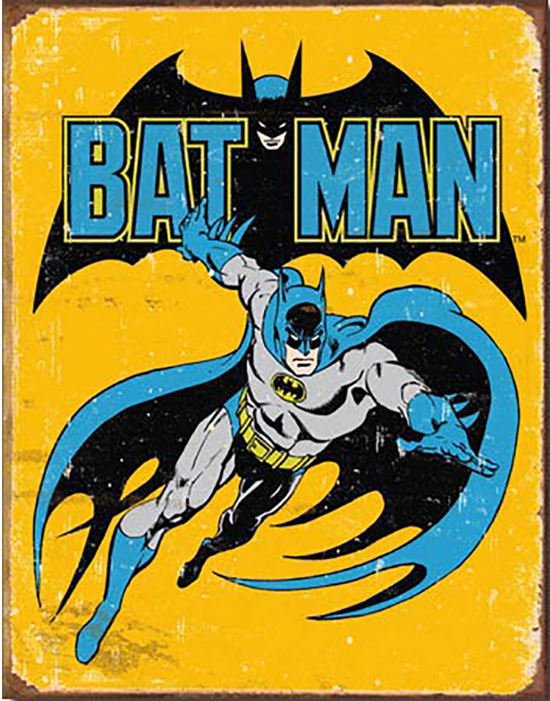 Shop72 Tin Sign DC Comic Series Batman Super Hero Metal Tin Sign Retro Vintage No Damage to Walls