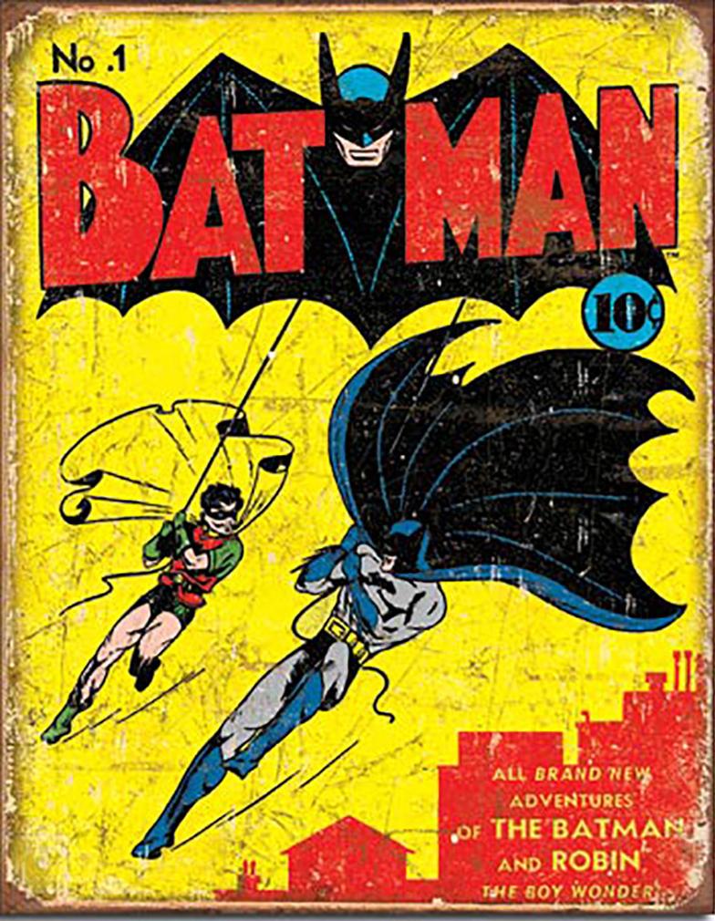 Shop72 DC Comic Serise Batman Metal Tin Sign Super Hero Retro Vintage Decor Home No Damage to Walls