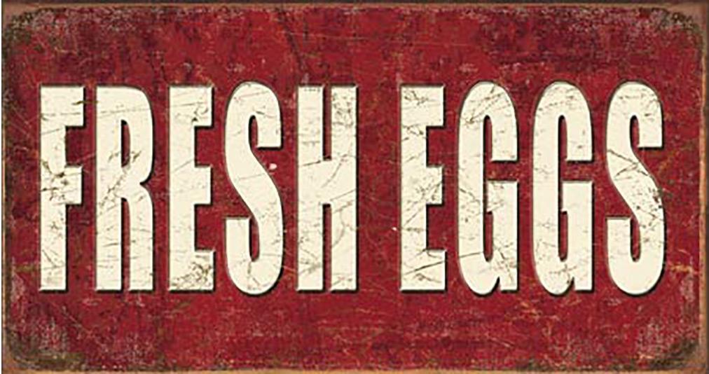 Shop72- Tin Signs Fresh Eggs Tin Sign Retro Tin Sign Vintage Tin Signs