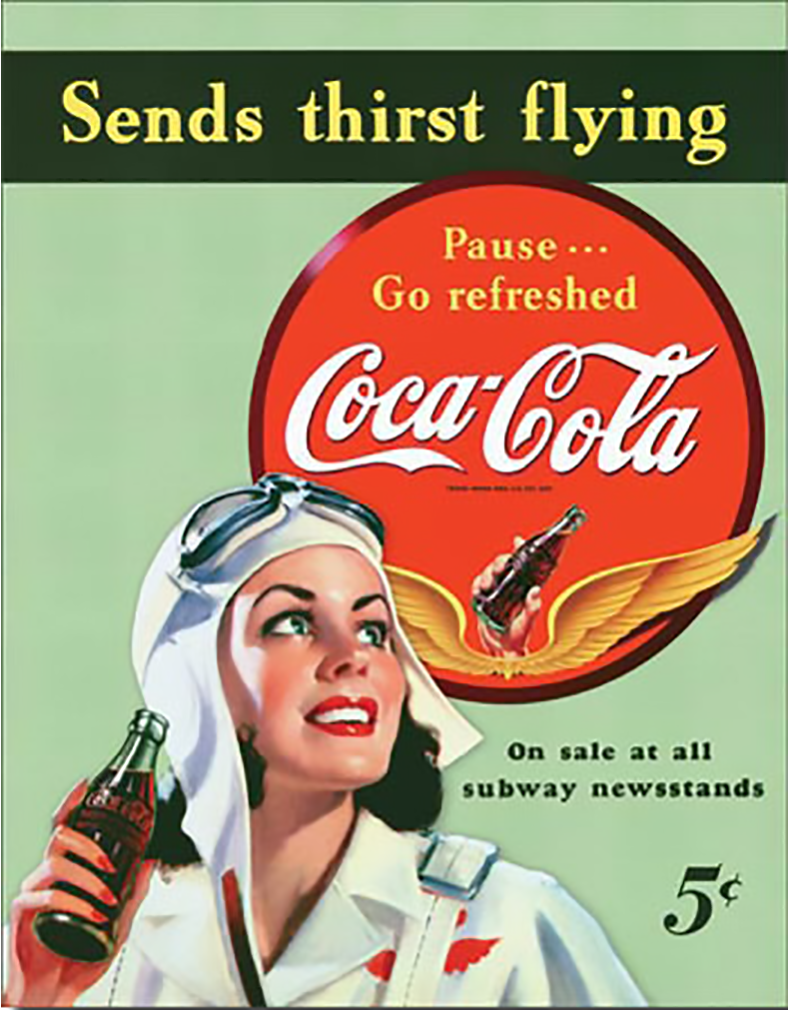 Shop72- Tin Signs Coke Cola Sends Thirst Flying Retro Tin Sign Vintage Tin Signs