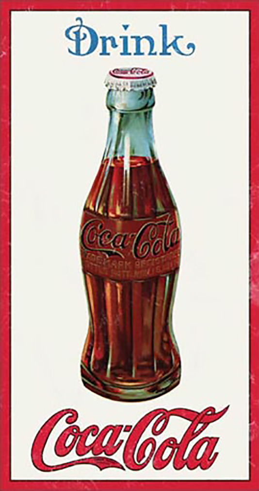 Shop72- Tin Signs Coke Cola 1915 Bottle Retro Tin Sign Vintage Tin Signs